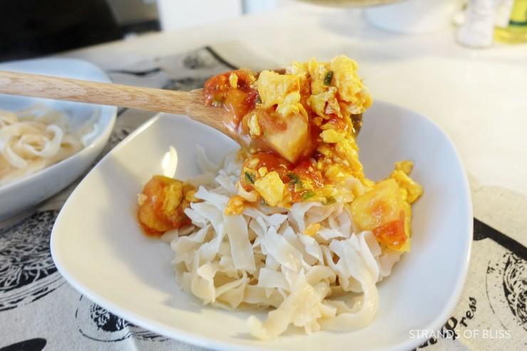 tomato egg noodle_combine noodles